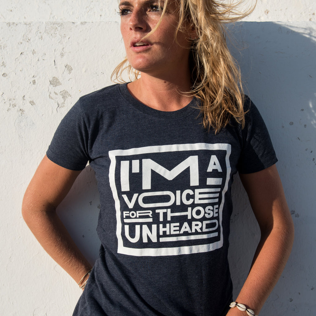 Recycled clothing, recycled polyester, ethical clothing, sustainable clothing, vegan clothing, save the planet, vegan tshirt, vegan slogan tee, vegan tee, I'm a voice for those unheard