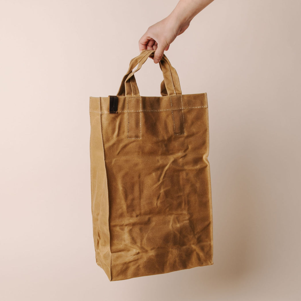 Common Goods Waxed Canvas Market Bag