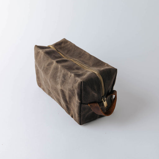 Common Goods Waxed Canvas Dopp Kit
