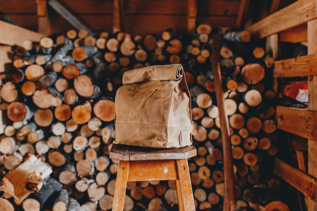 Waxed canvas lunch bag Common Goods