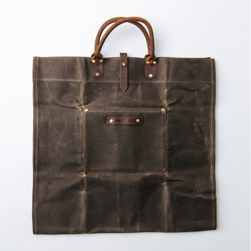 Common Goods Waxed Canvas Firewood Carrier