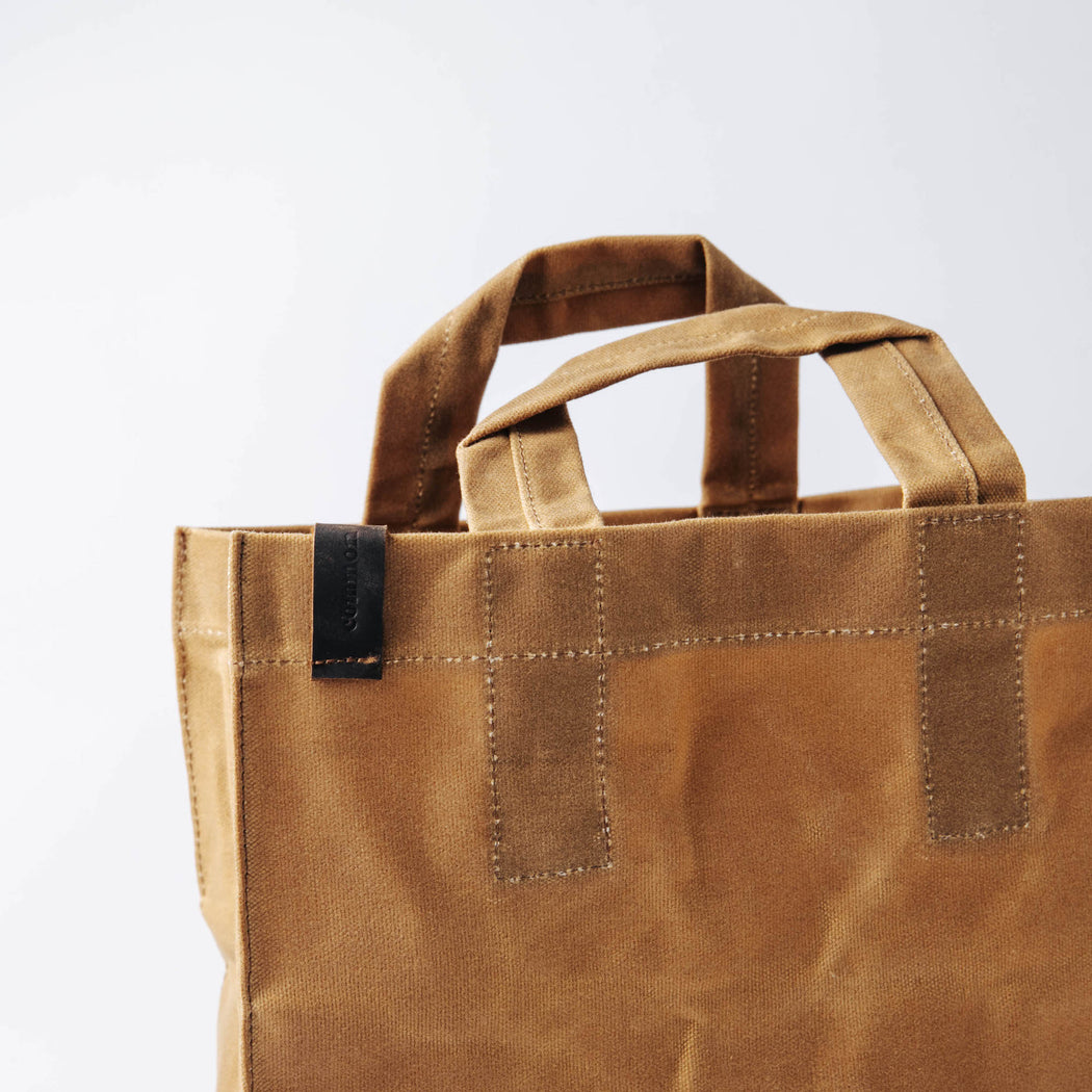 Common Goods Waxed Canvas Market Bag - closeup