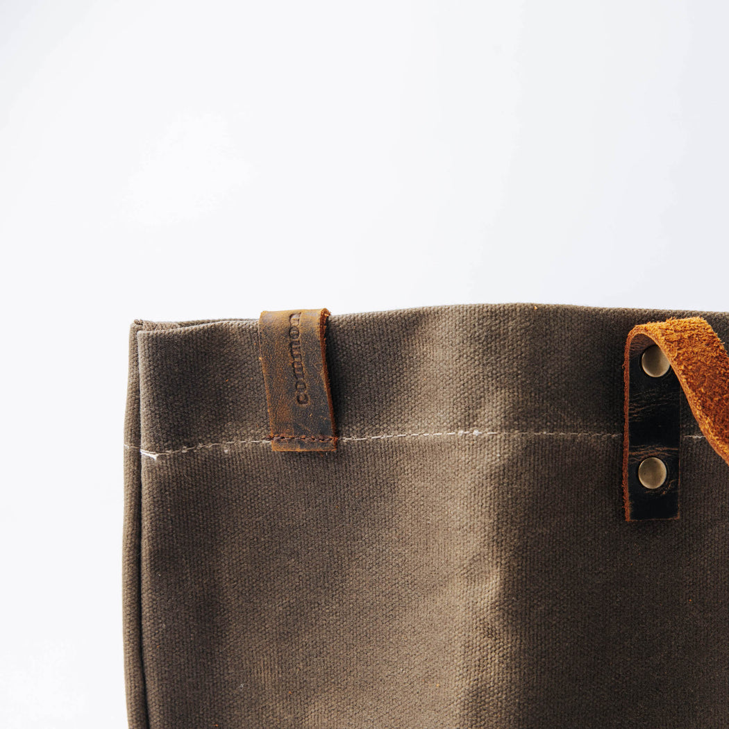 Common Goods Waxed Canvas Tote Bag - details