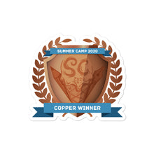 "Load image into Gallery viewer, Collectible Challenge Badge: ""Worldbuilding Summer Camp 2020 - Copper"""
