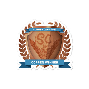 "Collectible Challenge Badge: ""Worldbuilding Summer Camp 2020 - Copper"""
