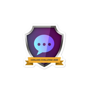 "Collectible Challenge Badge: ""Conlang Challenge 2020"""