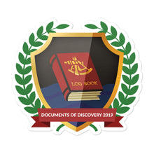 "Load image into Gallery viewer, Collectible Challenge Badge: ""Documents of Discovery 2019"""