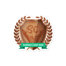 "Load image into Gallery viewer, Collectible Challenge Badge: ""Worldbuilding Summer Camp 2019 - Copper"""