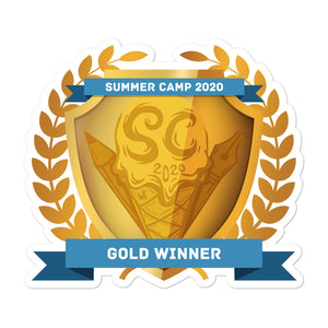"Collectible Challenge Badge: ""Worldbuilding Summer Camp 2020 - Gold"""