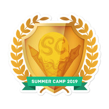"Load image into Gallery viewer, Collectible Challenge Badge: ""Worldbuilding Summer Camp 2019 - Gold"""