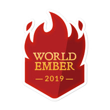"Load image into Gallery viewer, Collectible Challenge Badge: ""WorldEmber 2019"""