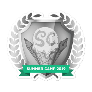 "Collectible Challenge Badge: ""Worldbuilding Summer Camp 2019 - Silver"""