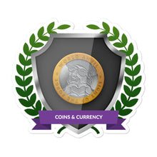 "Load image into Gallery viewer, Collectible Challenge Badge: ""Coins and Currency 2019"""