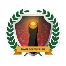 "Load image into Gallery viewer, Collectible Challenge Badge: ""Tower of Power 2019"""
