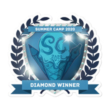 "Load image into Gallery viewer, Collectible Challenge Badge: ""Worldbuilding Summer Camp 2020 - Diamond"""