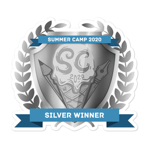 "Collectible Challenge Badge: ""Worldbuilding Summer Camp 2020 - Silver"""