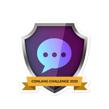 "Load image into Gallery viewer, Collectible Challenge Badge: ""Conlang Challenge 2020"""