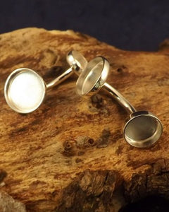 Two Stone Cuffling Setting For Cabochons or resin