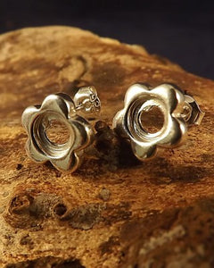 Chunky Flower Studs For 6mm Setting