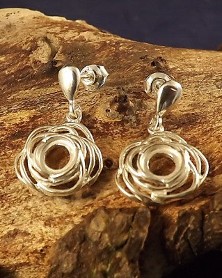 Rose Style Drop Earrings for 6mm Cabochon