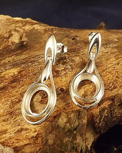 Hinged Drop Earring For 10x8 Cabochon