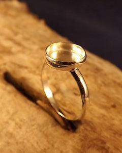 Silver Ring Setting For 10mm Stone Or Resin