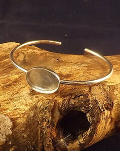 Bangle With Solid Back Perfect For Resin