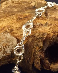 Silver Bracelet To Take 8 8x6 Cabochons