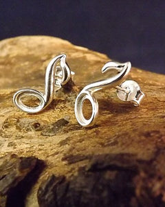 Silver Music Note Earring To Fit 6x4 Stone