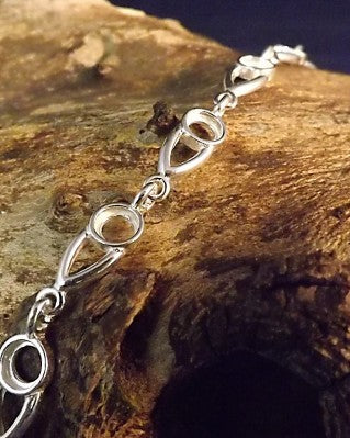 Silver Bracelet To Fit a 4mm Cabochon