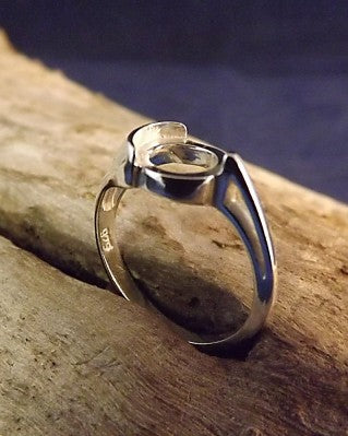 Silver Ring To Fit An 8mm Stone