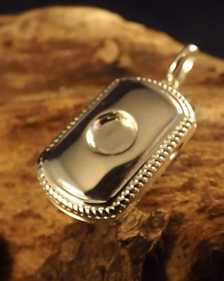 Rectangular Silver Locket For 6mm