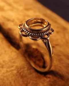 Frill Edge Silver Ring Setting