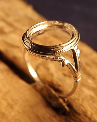 Silver Rope Edge Ring Setting for Cabochons