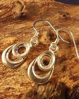 Silver Drop Earrings For 7x5 Stone