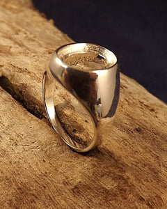 Mens Silver Seal Ring Mount