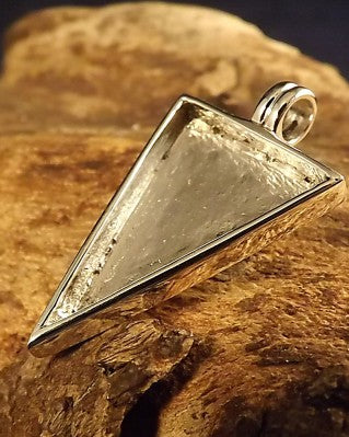Triangular Silver Pendant Setting Unset For 17x24
