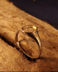 Ladies Unset Seal Ring For Setting 8x6 Stone
