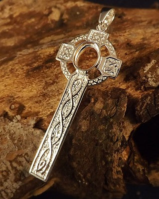 Silver Unset Celtic Cross. Without Stones