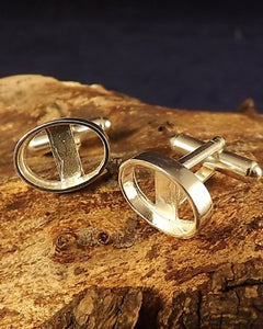 14x10 Silver Cufflink Mounts Without Stones