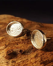 Silver Cup Type Earring Stud