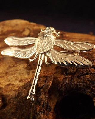 Silver Dragonfly Brooch For 10x8