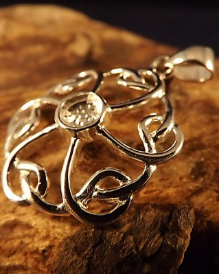 Celtic Pendant Unset To Mount 5mm Stone