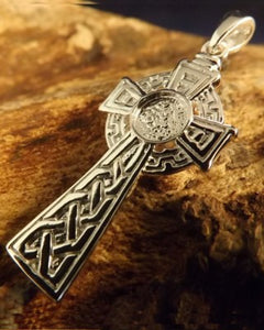 Silver Celtic Cross For 6mm Cabochon