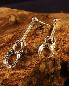 8X6 Celtic Drop Earring For Fitting Stone