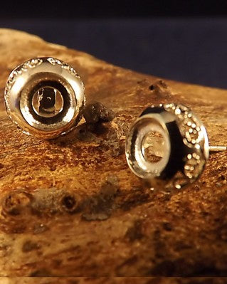 Domed Ear Stud For 6mm Setting