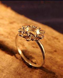Silver Daisy Ring Setting to Mount 6mm