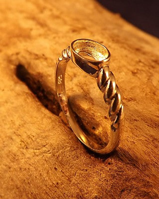 Silver Ring Setting For 7x5 Stone
