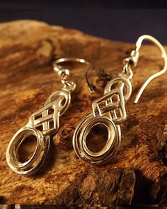 Celtic Silver Drop Earrings for 7x5 Setting