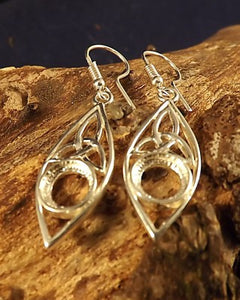 Silver Celtic Earring Drops For 8mm Stone